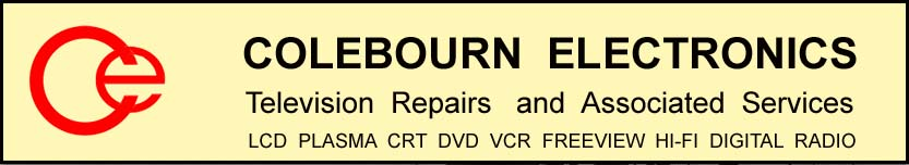 COLEBOURN ELECTRONICS:            Television and Electronics Repairs